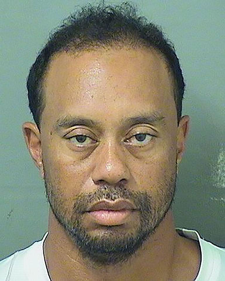 Tiger Woodsin pidätyskuva
