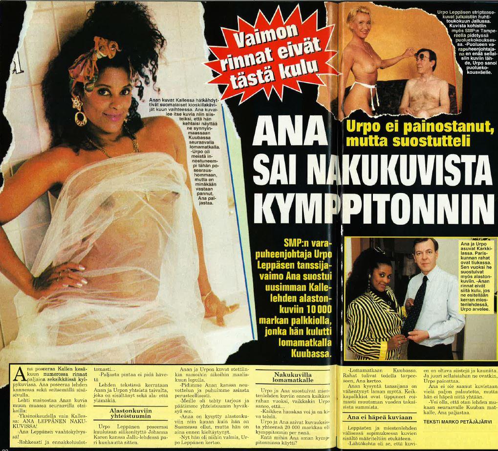 Näin Leppäsen pariskunta poseerasi Jallussa ja Kallessa.