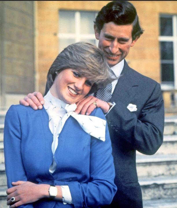 Dianan ja Charlesin kihlajaiskuva.