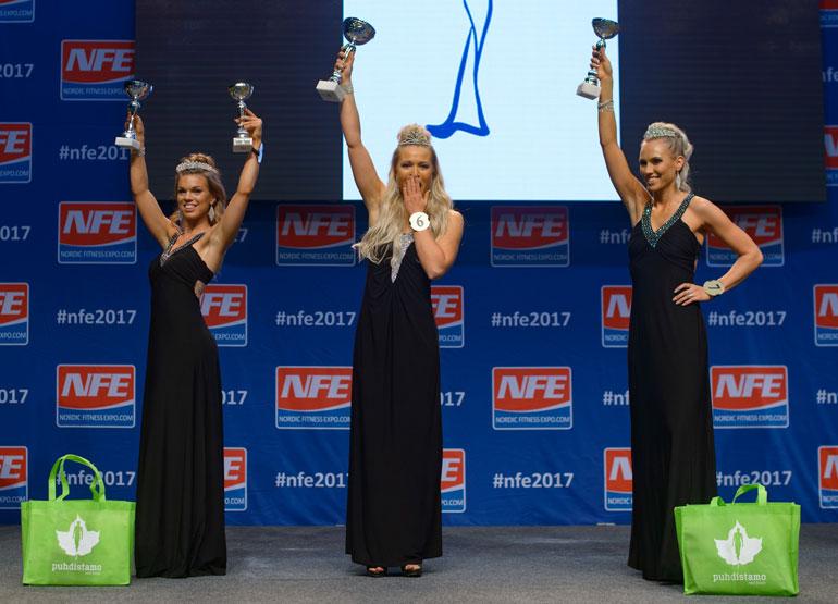 Miss Fitness Finland -voittajakolmikko