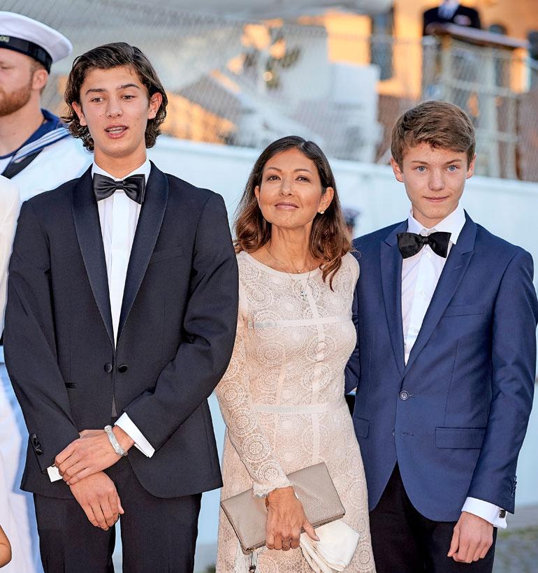 Tanskan kreivitär Alexandra, prinssi Nikolai ja prinssi Felix