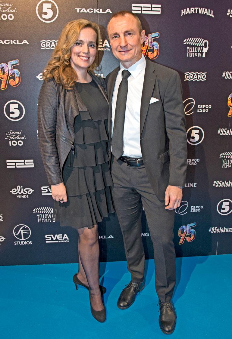 Jere Lehtinen ja Jaana-vaimo