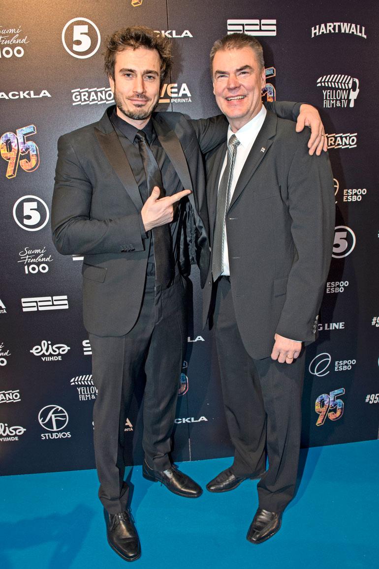 Sebastian Rejman ja Raimo Helminen.