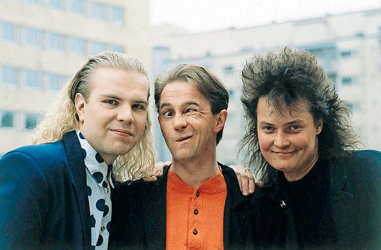 Hausmyllyn muodostivat Jarin lisäksi Enzo (keskellä) ja Micky. – Mickyn kuolema kosketti. En voi olla enää Hausmyllyssä mukana ilman häntä.