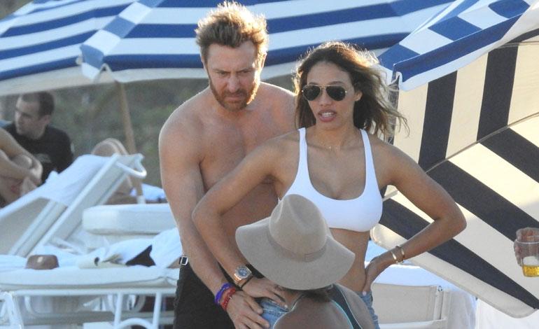 David Guetta ja Jessica Ledon kuvattuna Miamissa, Floridassa.