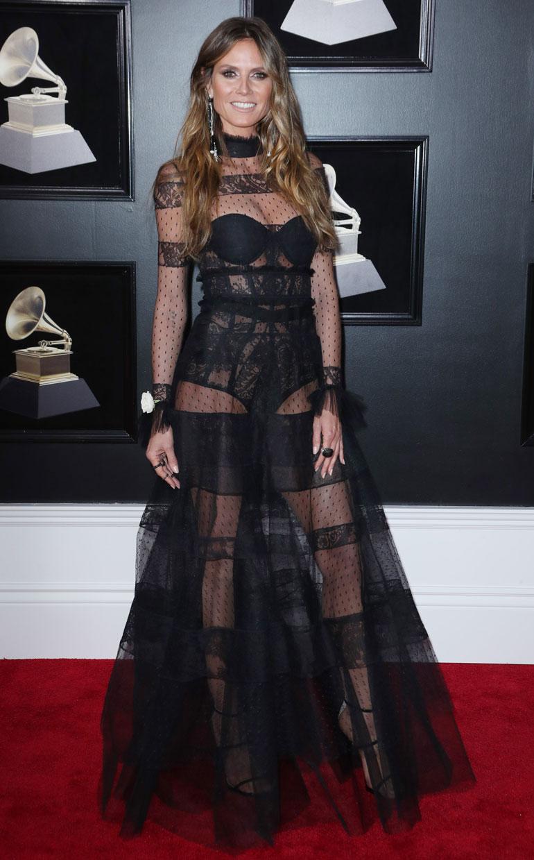 Heidi Klum Grammy-gaalassa.