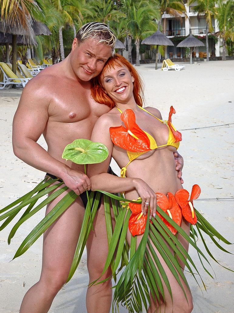 Petteri Jussila nai Juttansa kesällä 2002. Tuore aviopari suuntasi häämatkalle Mauritiukselle.
