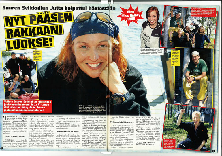 SEISKA 27/2001 Suuri seikkailu -ohjelmassa yleisösuosikki kertoi Seiskalle odottavansa kisan jälkeen eniten soittoa uudelle kullalleen Petterille.