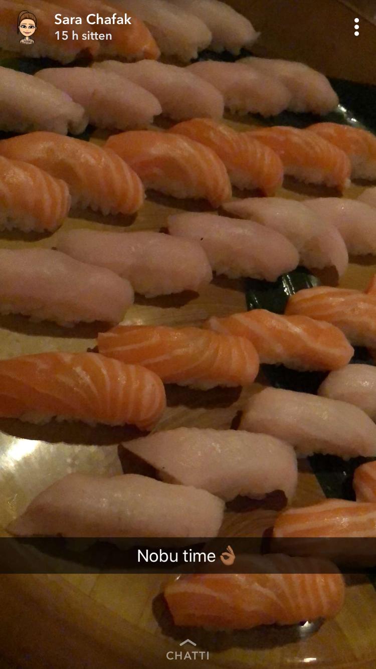 ...ja samainen sushi maistui Sarallekin.