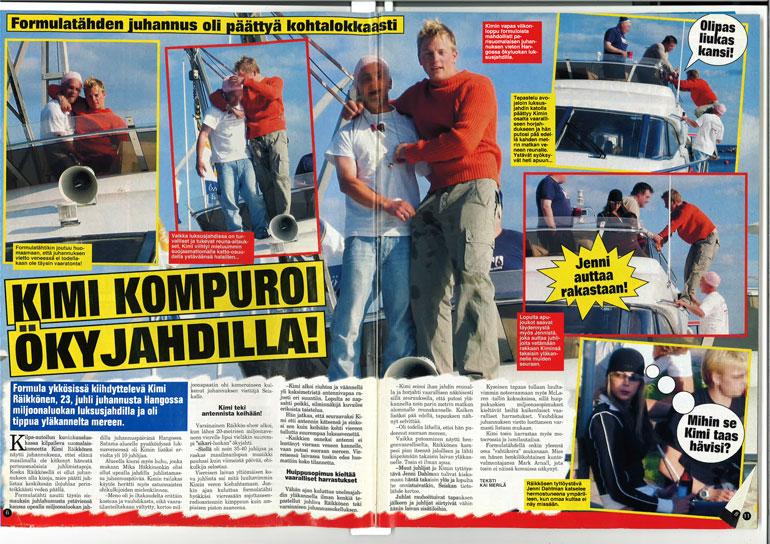 SEISKA 26/2003 Kimin juhannusjuhlat olivat päättyä hassusti, kun hän tipahti pää edellä ökyjahdin kannelta.