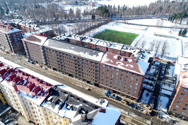 Jarkon perheen koti sijaitsee aivan Helsingin ydinkeskustan tuntumassa.