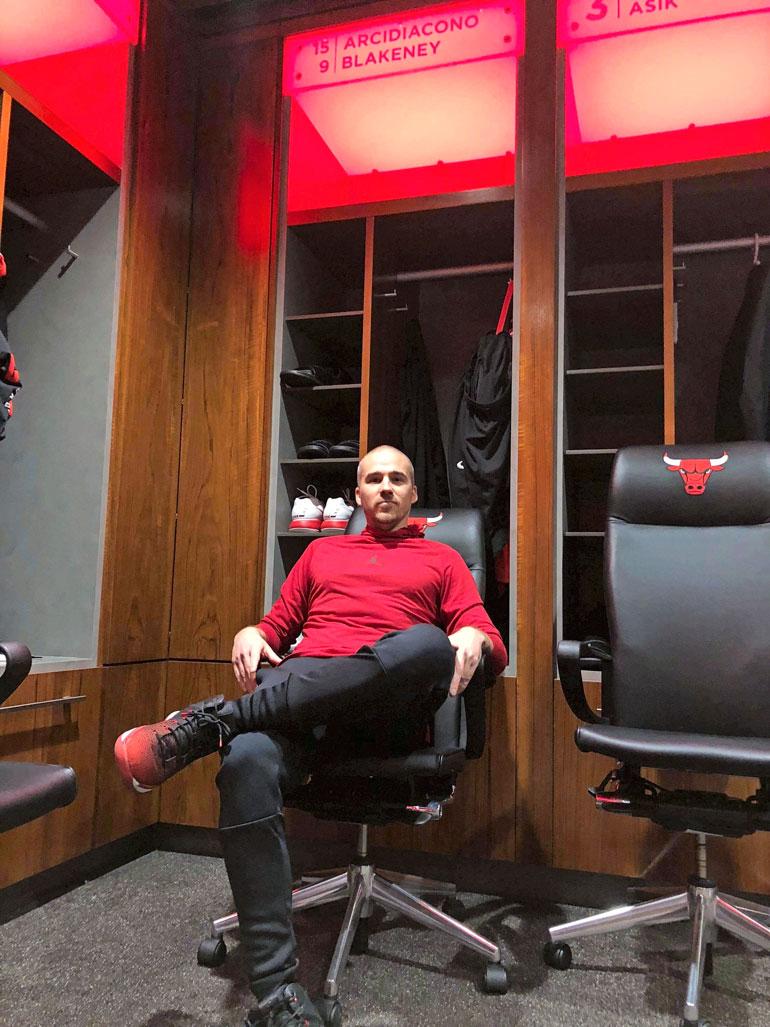 Bullsin pukukopista Aleksi löysi paikan, joka aikoinaan kuului Michael Jordanille.