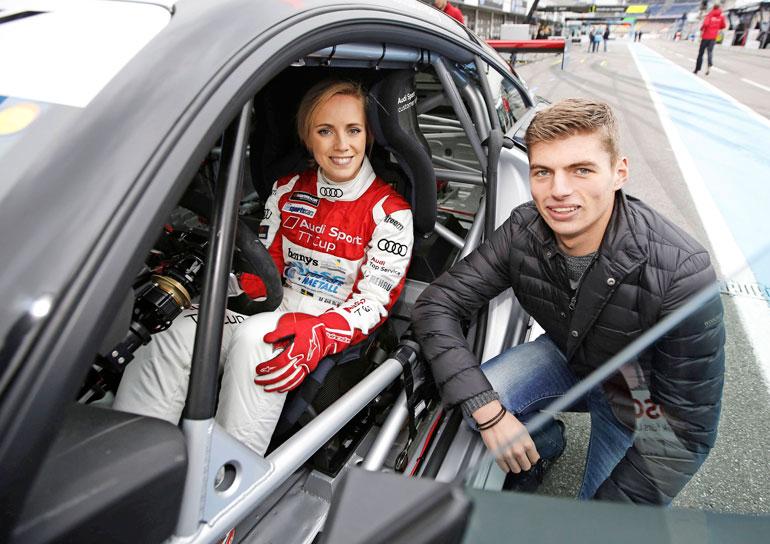 Max Verstappen ja tyttöystävä.