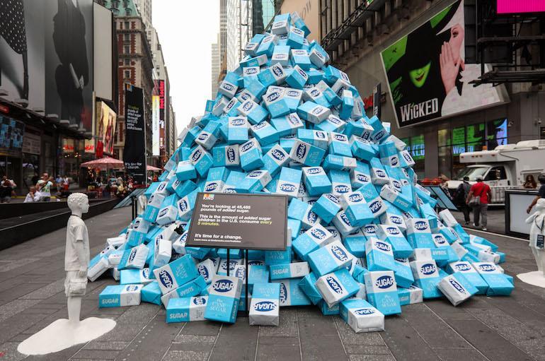 Times Squarelle kohosi sokerivuori.