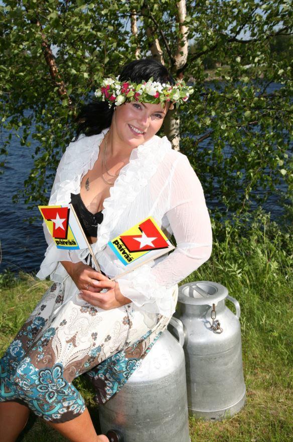 Maarit Halttu voitti vuonna 2006 Miss XL -kilpailun.