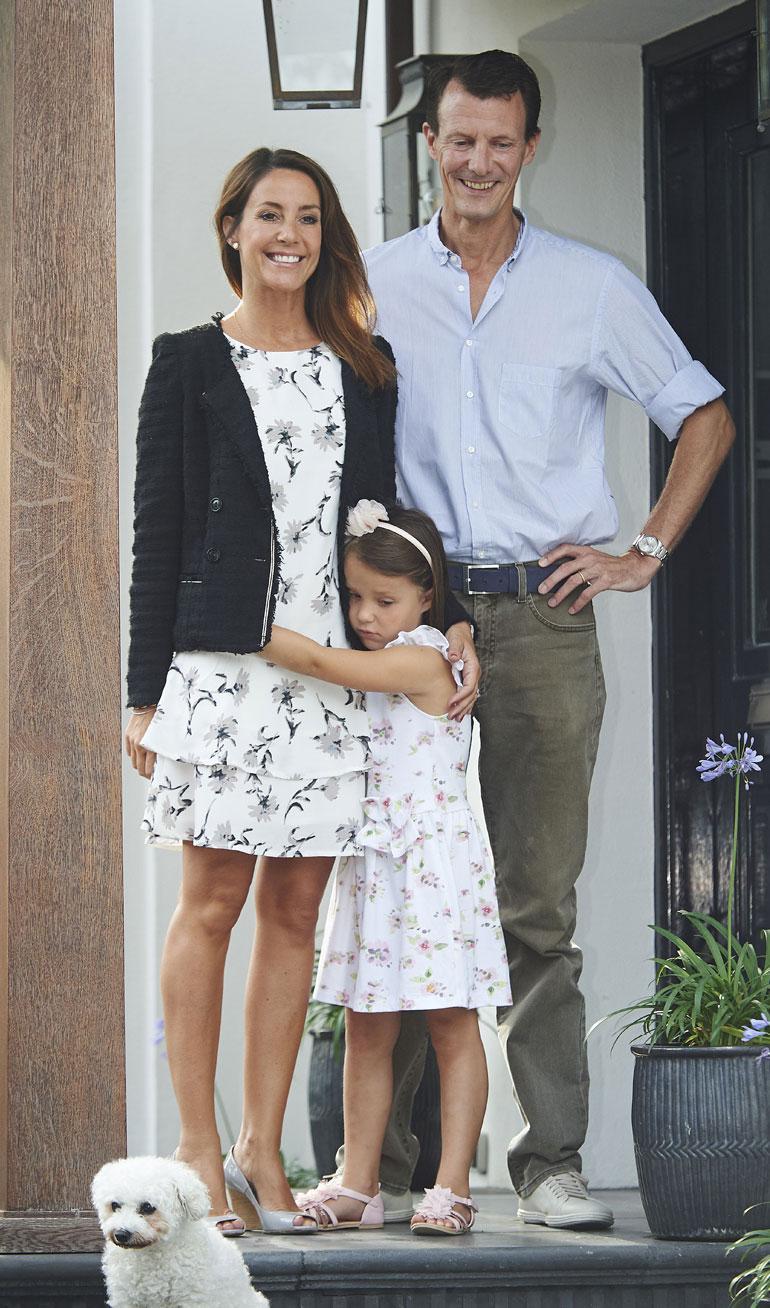 Tanskan prinssi Joachim, prinsessa Marie ja prinsessa Athena.