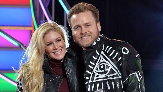 Heidi ja Spencer Pratt poseeraavat kameralle