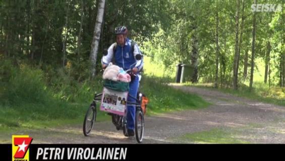 Petri, 42, on ystävyyden suurlähettiläs: levittää ilosanomaansa pyöräillen – ajanut jo yli 71 000 kilometriä!