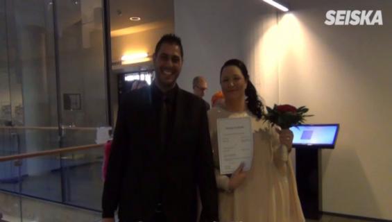 """Kielletty rakkaus -sarjan Mia, 47, ja tunisialainen Karam, 35, pääsivät vihdoin naimisiin – takana liki 6 vuoden taistelu: """"Tämä on uusi alku!"""""""