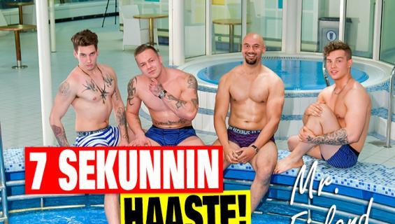 Kuka loistaa ja kuka jäätyy - Mr. Finland -finalistit 7 sekunnin haasteessa: Nimeä kolme exää, missiä ja pornotähteä!