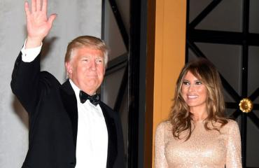 Donald ja Melania Trump Washingtonissa 19. tammikuuta 2017