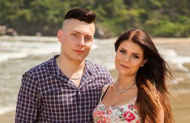 Pauliina ja Joonas TISuomi-saarella