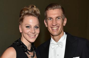 Anu ja Jarkko Nieminen linnanjuhlissa