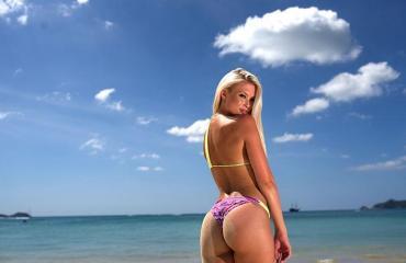 Isabell Ljungdell poseeraa Seiskalle