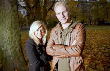 Krista Siegfrids ja Janne Grönroos
