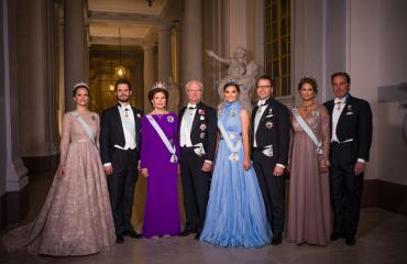 Kuninkaalliset Nobel-juhlissa