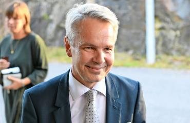 Pekka Haavisto Seiskan vaalitentissä.