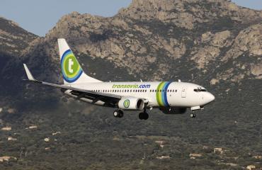 Transavia kone teki hätälaskun.