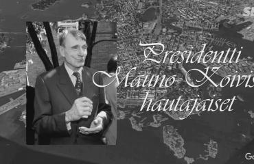 Presidentti Mauno Koivisto haudataan torstaina Kekkosen viereen - katso tästä hautajaissaattueen reitti