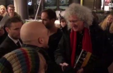 Queen viihdytti fanejaan hotellilla: nimmareita ja yhteiskuvia - Adam Lambert porhalsi tyylikkäästi ohi! Kuvat ja video!