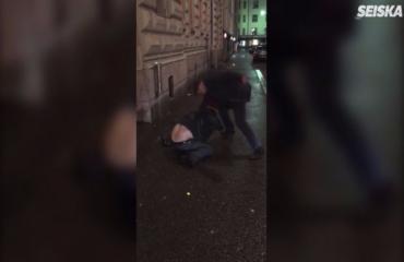 Kiekkolegenda Raimo Summanen hakkasi miestä silmittömästi Helsingissä - kohuvideo vain Seiskassa!